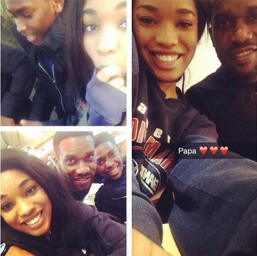Jay Jay Okocha daughter and son photos