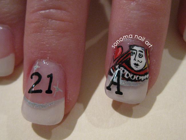 Sonoma Nail Art: 21st Bday in Vegas Nails