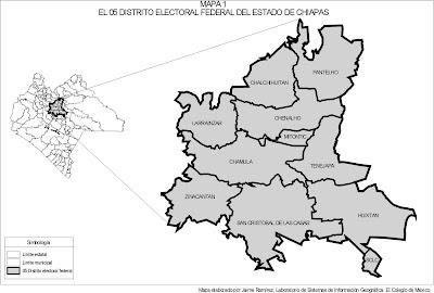 Mapa de Chiapas Político Región