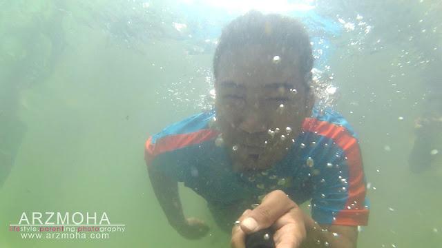 crazy selfie, taman rimba pulau pinang, selfie dalam air, underwater selfie, kualiti gambar sjcam,