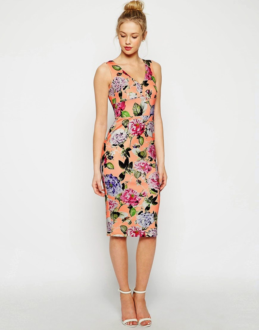 peonie print dress,