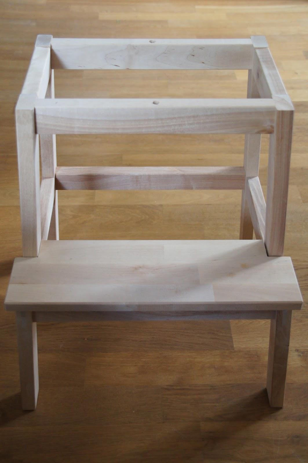 gl cksfl gel bauanleitung f r einen learning tower lernturm aus ikea hocker bekv m. Black Bedroom Furniture Sets. Home Design Ideas