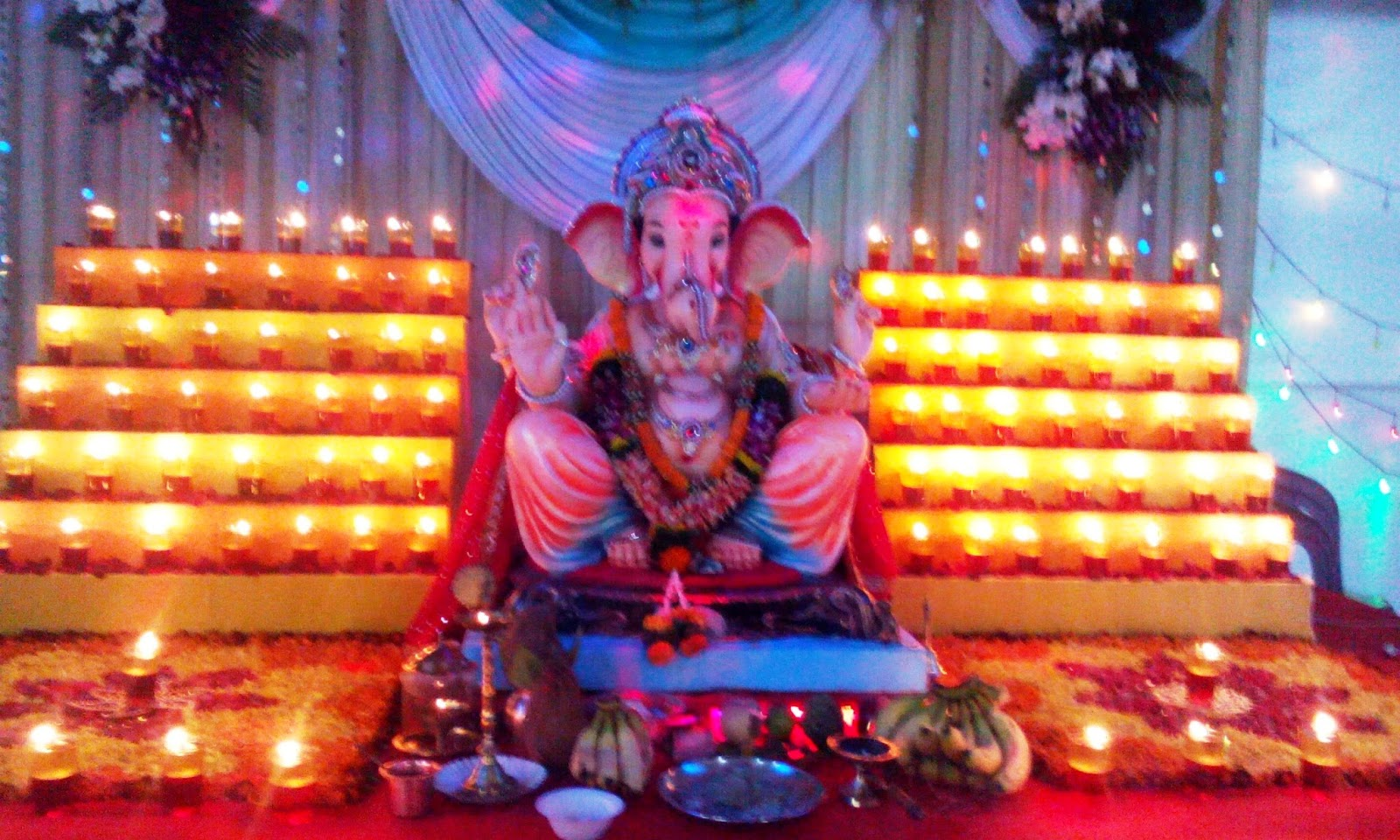 Ganesh Chaturthi was celebrated as a public