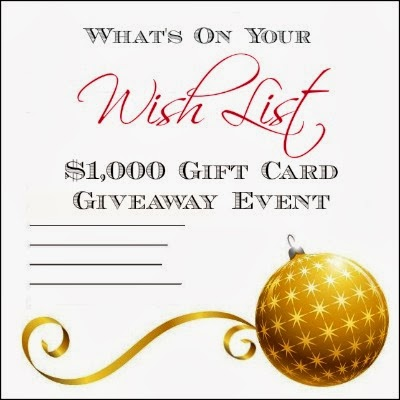 11/1 to 12/1 – What's On Your Wish List Giveaway
