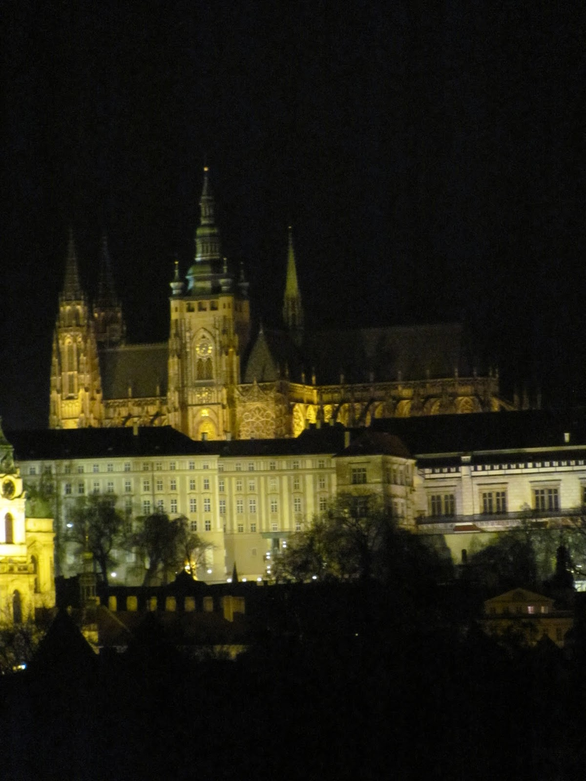 Prague Castle at Night Czech Republic