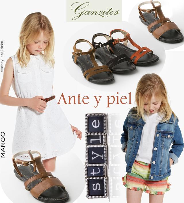niñas estilo folk sandalias ganzitos