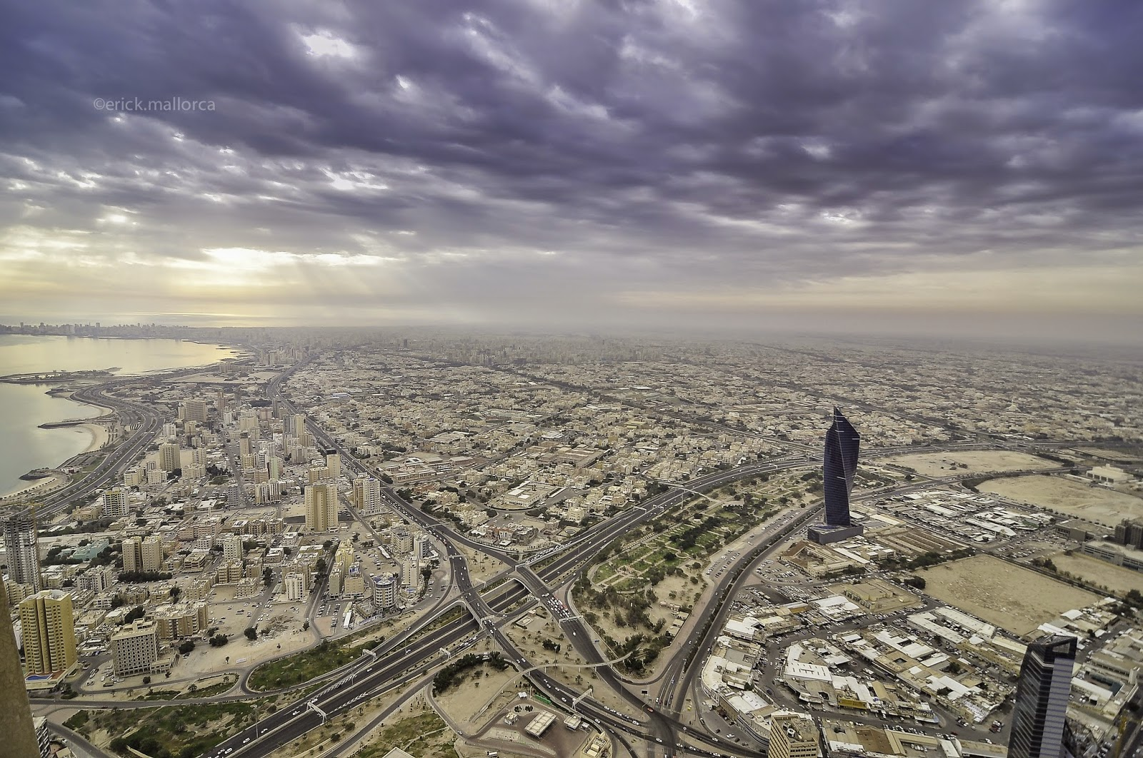 view from Al Hamra Tower