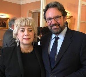 Morgane BRAVO & Frédéric Lefebvre, ancien Ministre. Député des Français d'Amérique du Nord.