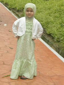 dress kot hijau