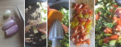 Zubereitung Lauwarmer Salat mit Cima di Rapa und Tomaten