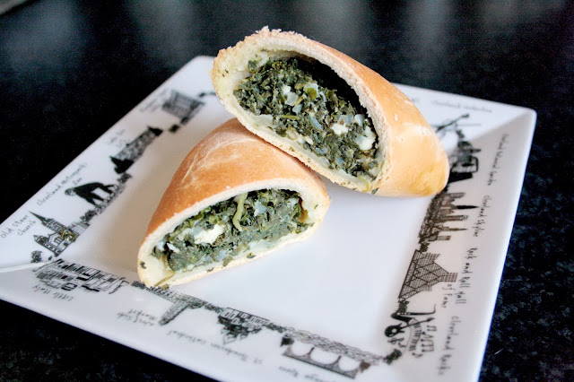 Spanakopita - Greek spinach and kale pies just like Aladdin's bakery!