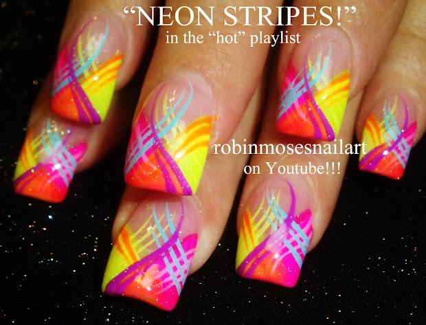 robin moses nail art neon summer