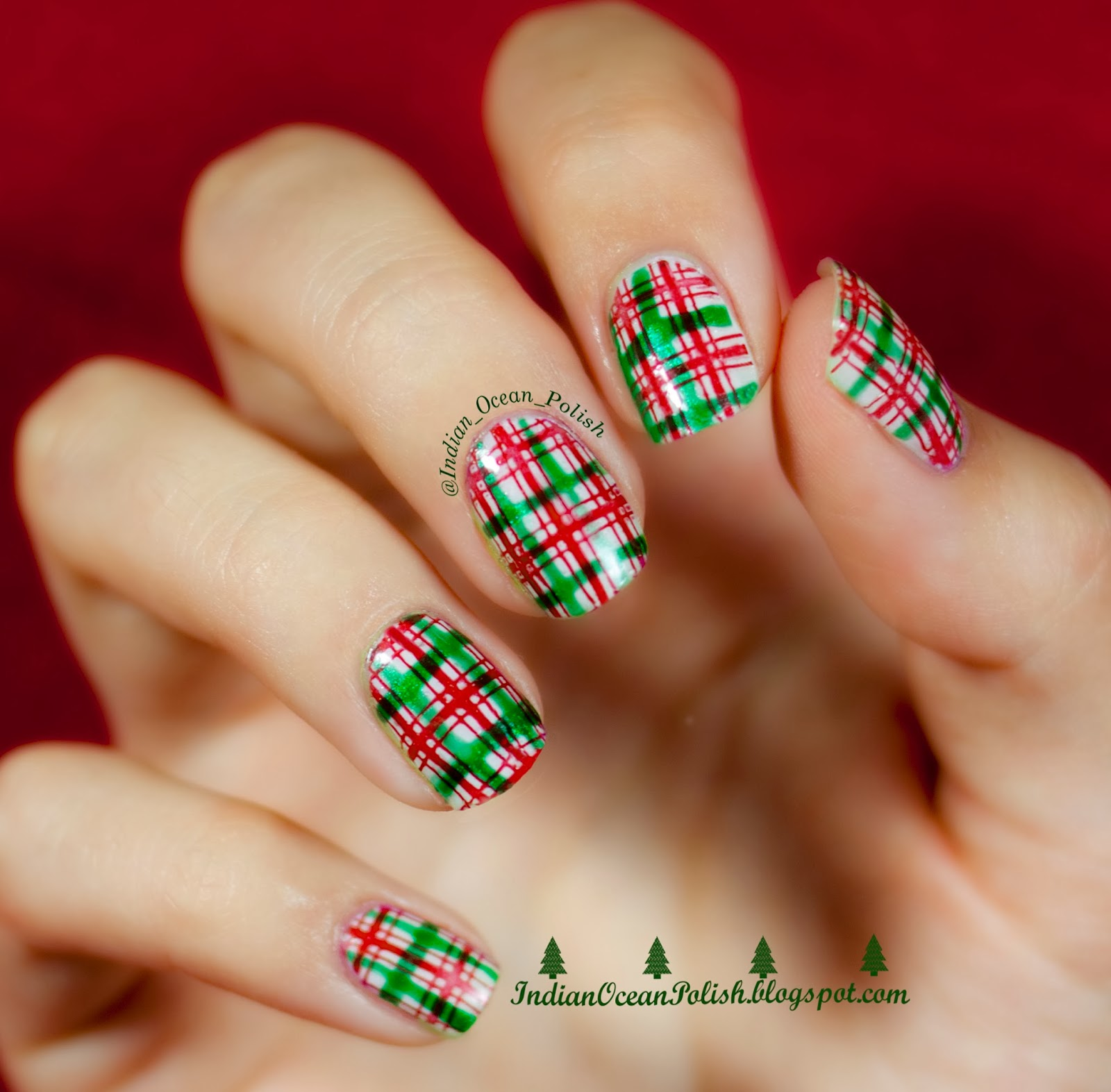 Christmas 2013 Nail Art: Indian Ocean Polish: Christmas 2013 Nail Art Ideas: Simple