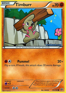 Timburr Pokemon X and Y Card