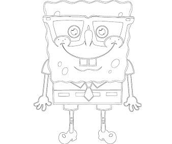 #6 Spongebob Coloring Page