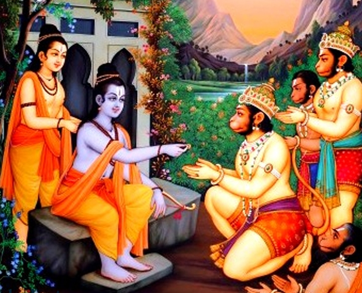 Pledging service to Rama, the new king...