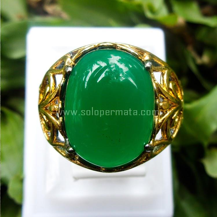Cincin Batu Green Calcedony - SP526