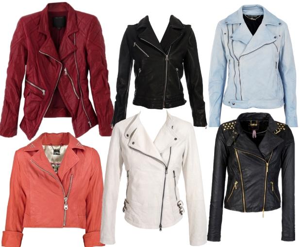 foto chica modelo chaqueta cuero: