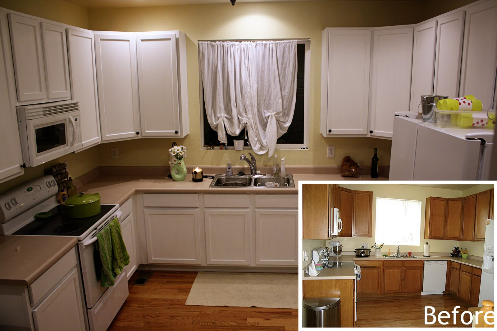 Painted kitchen cabinets for Painting kitchen cabinets