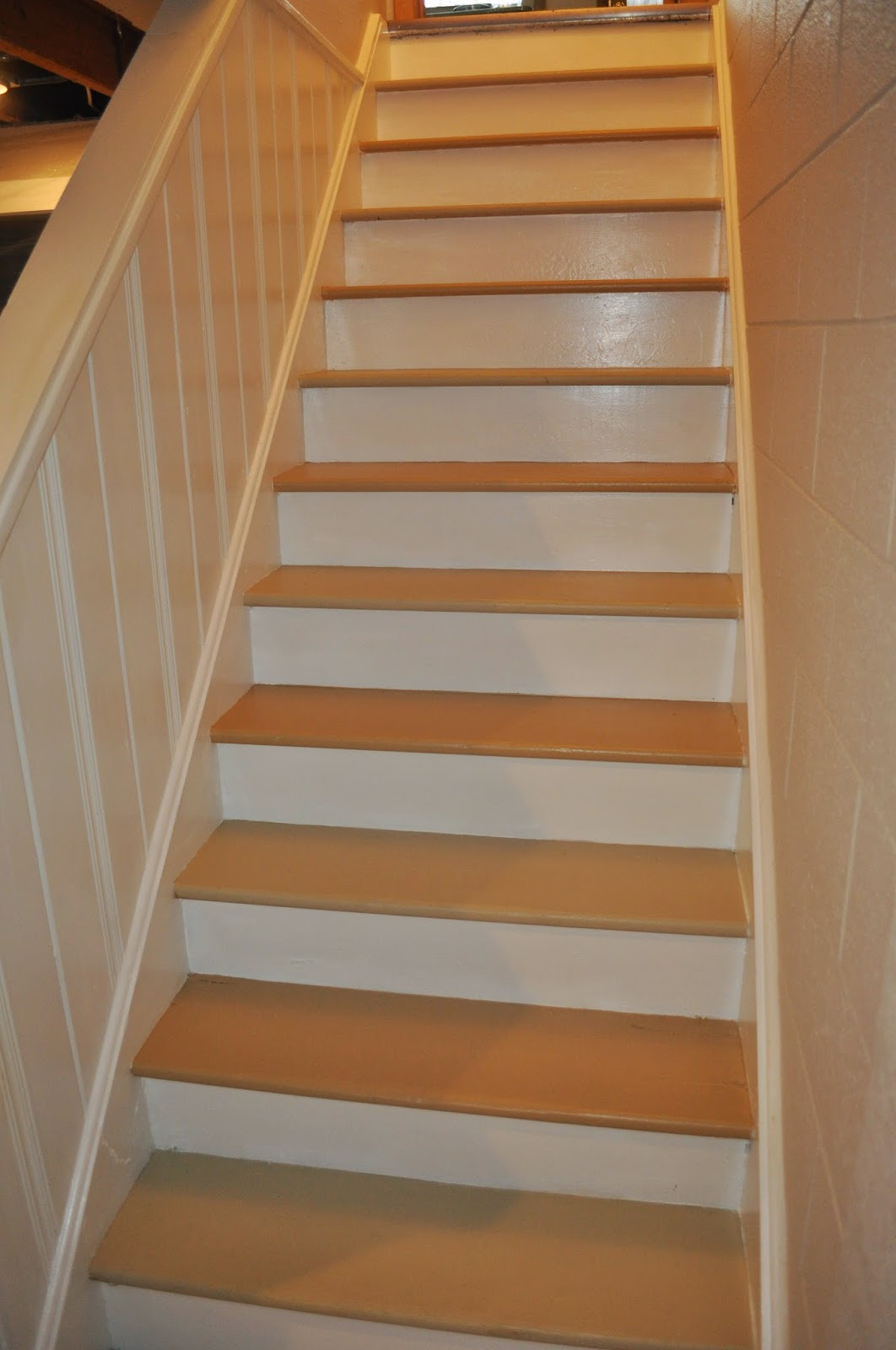 runner, overstock, runner installation, diy, easy, before and after, project, bostitch, staple gun, carpet pad, one hour, before, after, before and after, basement, hallway, stairs, paint, painting, treads, riser
