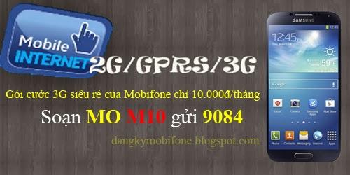 Đăng ký gói cước 3G siêu rẻ chỉ 10.000đ của Mobifone