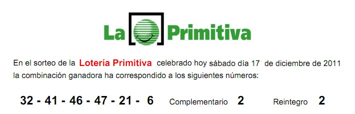 gordo primitiva 17 diciembre: