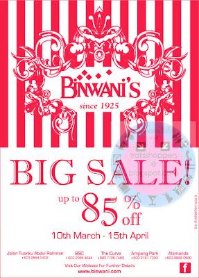 Binwani's Big Sale END 15 APR 2012