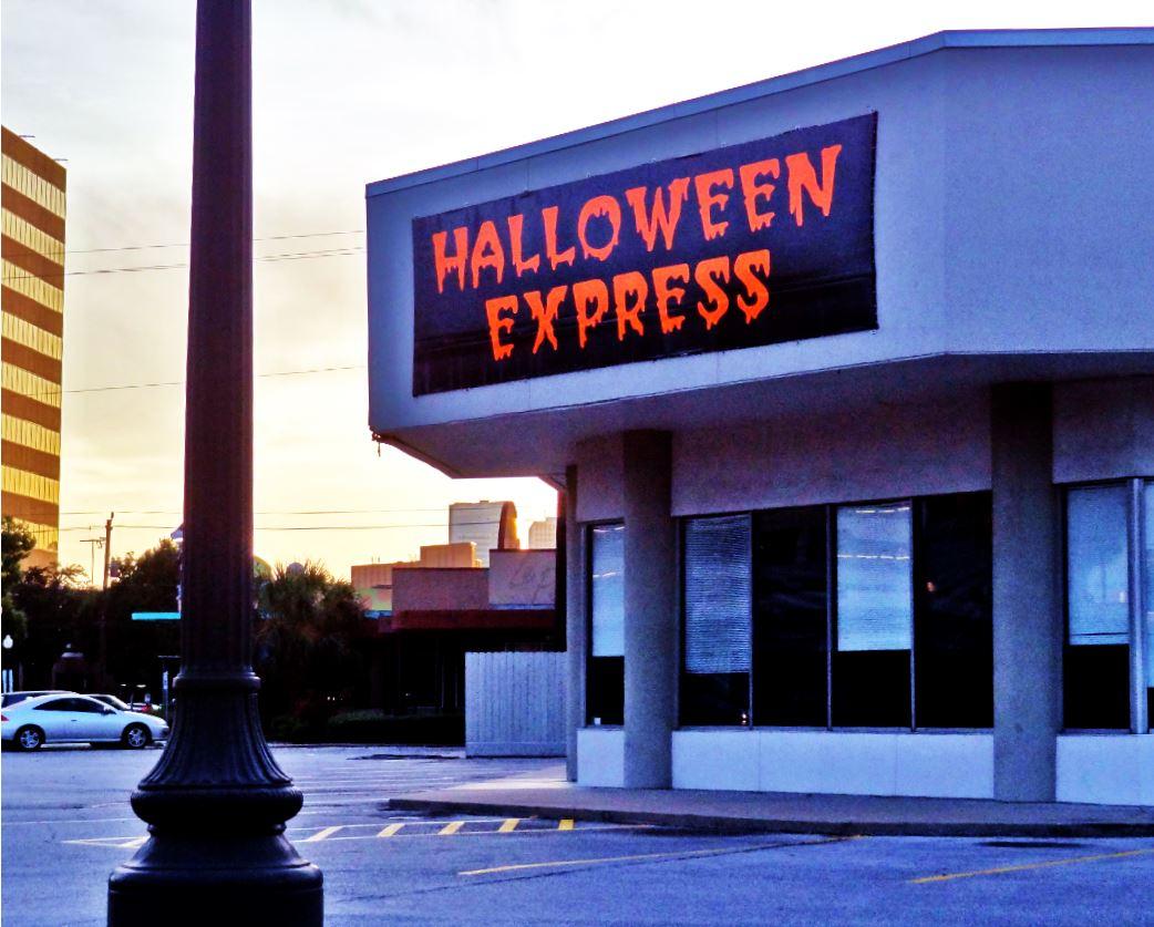 pop-up signs of the season: halloween | houston streetwise