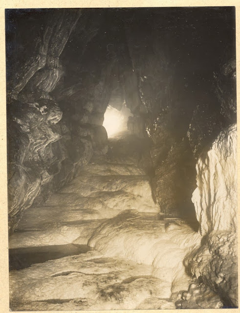 The White Way through Barnes Loop. Swildon's Hole, cave near Priddy, Mendips, Somerset.1921.