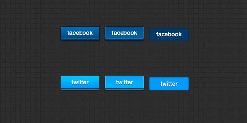 Free 3D Social Networks Buttons
