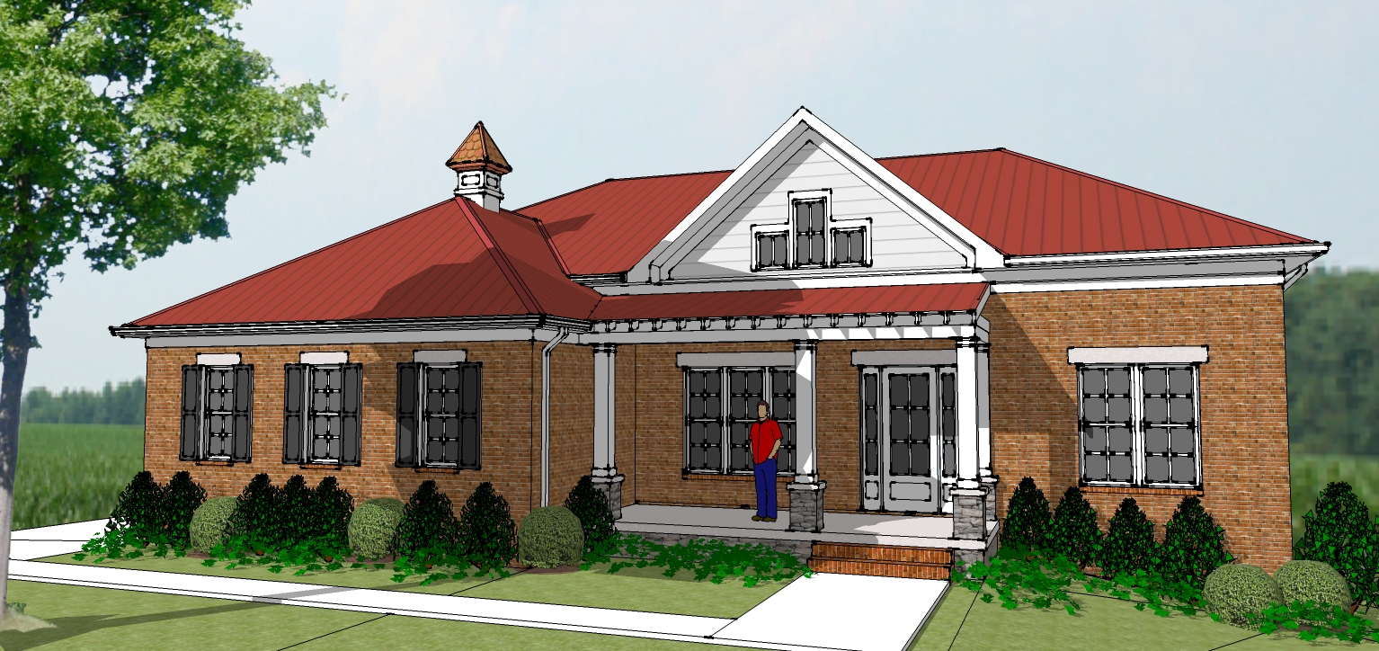 Hindsight Home Design: Design Progress in Google Sketchup