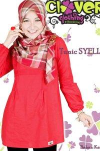 Clover Clothing Blus Syelia - Red (Toko Jilbab dan Busana Muslimah Terbaru)