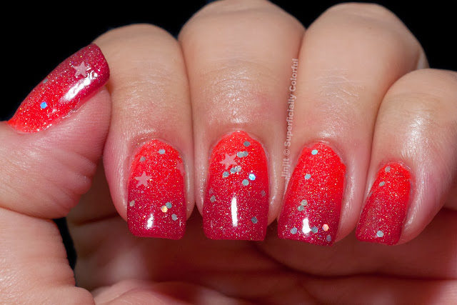 The Nail Junkie Fairy and  Shimmer Jelly Watermelon sponged Zoya Posh Bondi New York Horny Mistress
