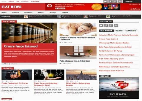 Flat News Responsive Premium Blogger Template Free Download