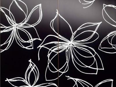 The Black White Flower
