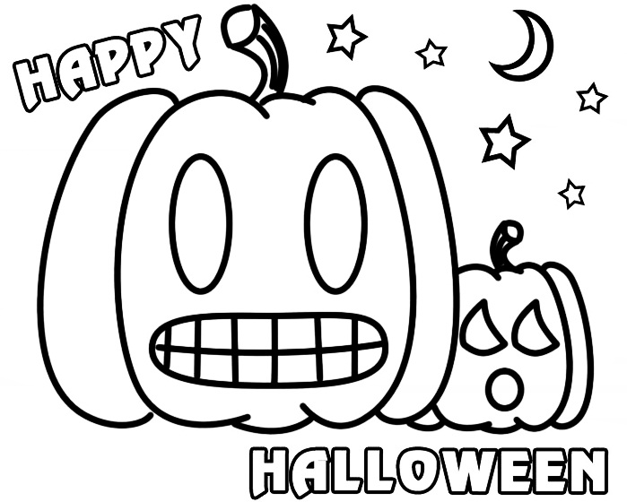 free happy halloween pumpkin coloring pages pictures 2015 for facebook