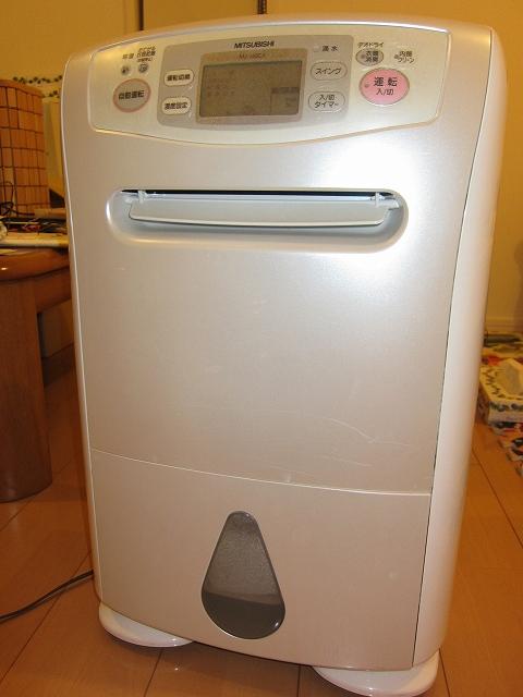 強力な除湿機、洗濯物があっという間に乾く