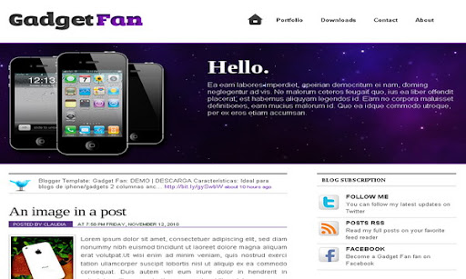 Gadget Fan Blogger Template
