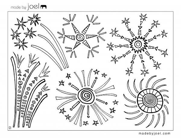 Free 4th of July Fireworks Coloring Pages