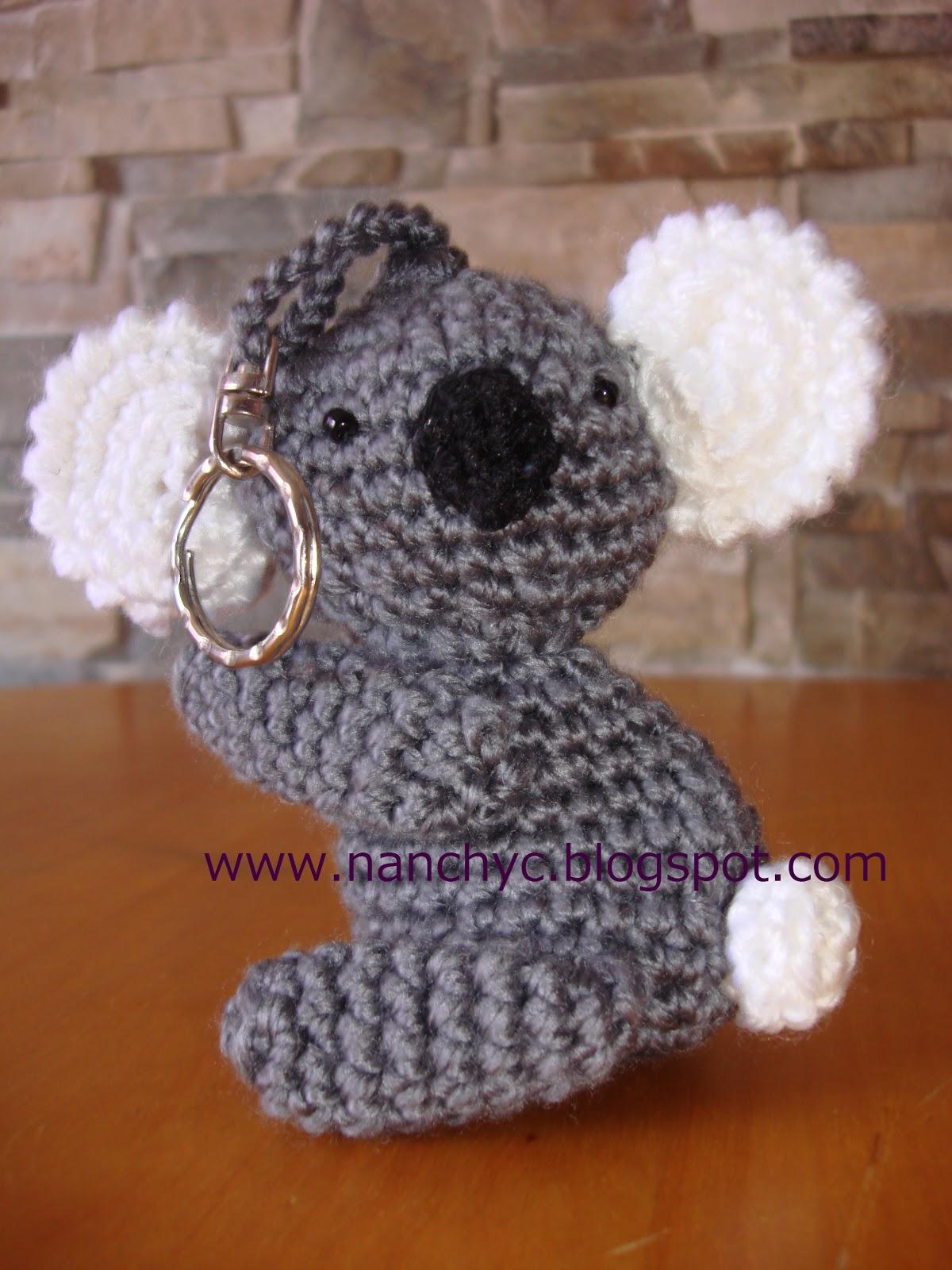 koala amigurumi tejido a crochet o ganchillo