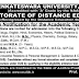 SVU Degree,PG Distance Education Courses DDE Admission notification