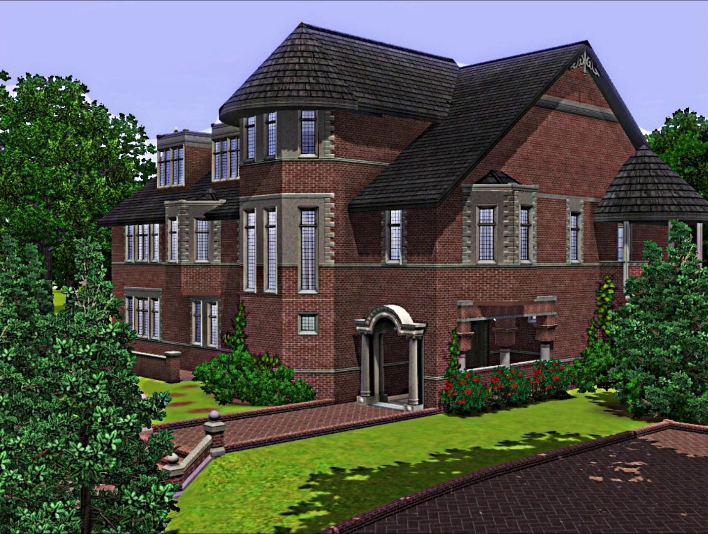 My sims 3 blog american horror story house by wisteriabrayan for 3 story house