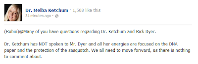 Melba Ketchum Responds To Rick Dyer