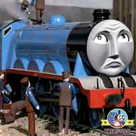 Thomas and friends Gordon the big express engine whistling Sodor railroad transportation service