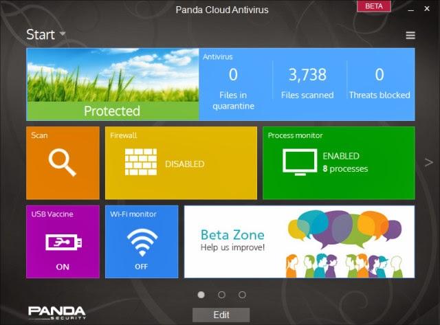 صورة من برنامج باندا انتي فيرس Panda Cloud Antivirus 2.9 Beta