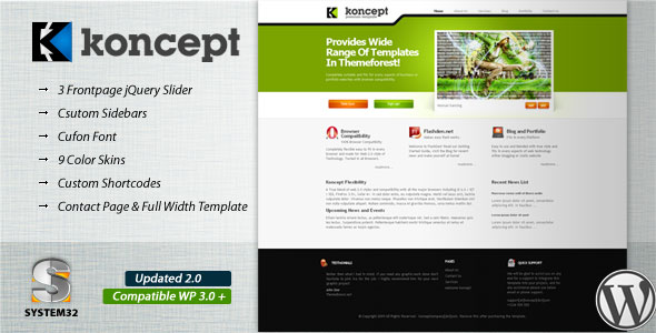 Koncept 10 in 1 WordPress Theme Free Download by ThemeForest.