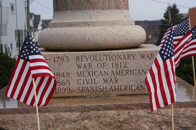 Dougboy memorial listing the first five American wars
