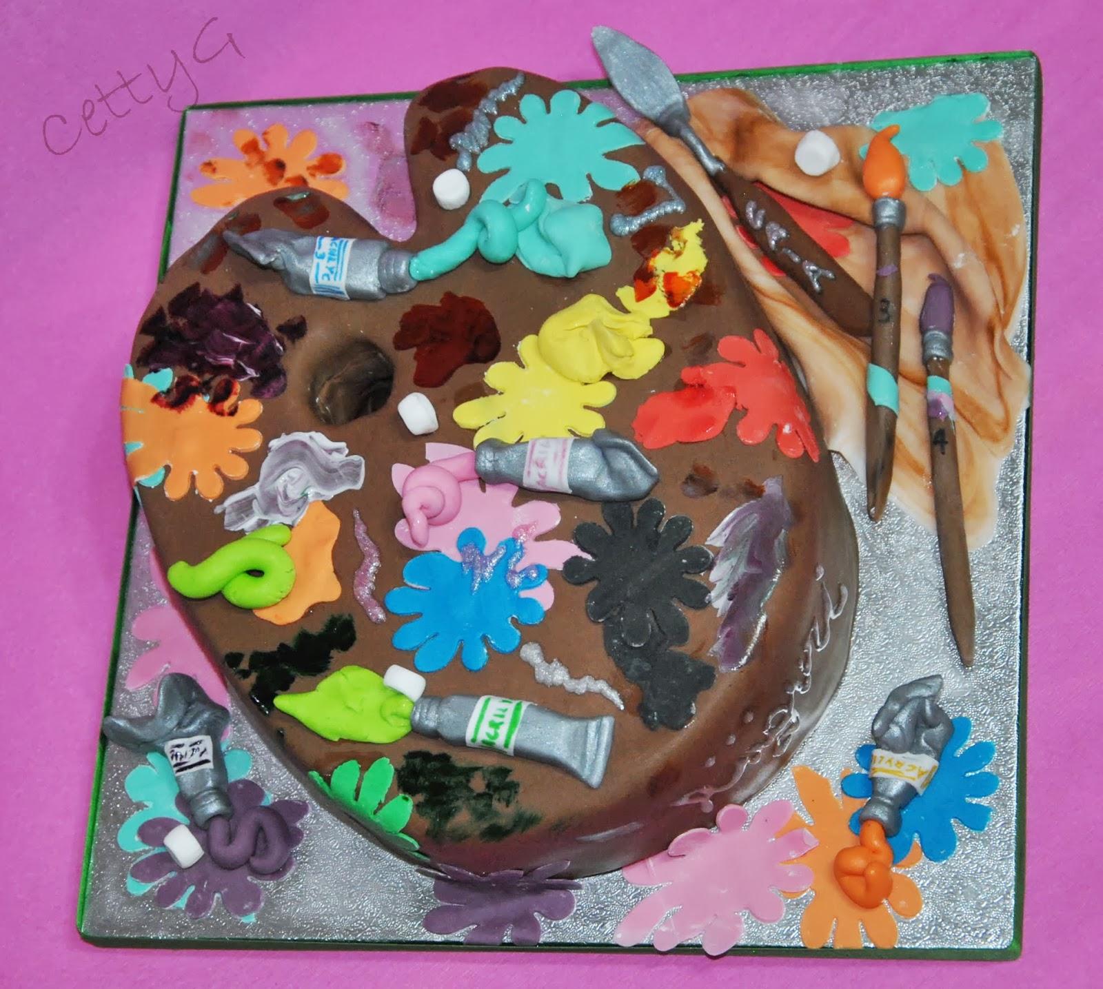 Le torte decorate di cetty g tavolozza del pittore cake for Arte delle torte clementoni