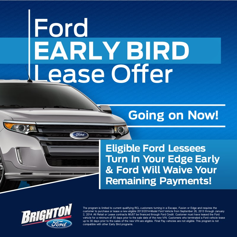 Ford Edge Early Bird Lease Program at Brighton Ford