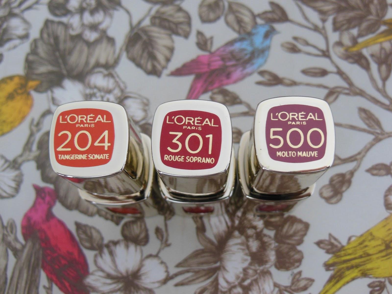 L'Oreal L'Extraordinaire liquid lipsticks